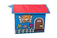 Kid's Toy Storage House with Yellow Bear and Letters