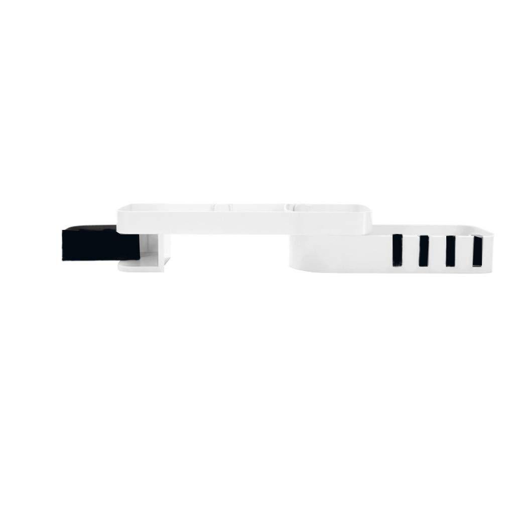 Meetsunshine Rotating Rack, 2019 New Multifunctional Bathroom Kitchen 180°Rotatin Shelf with 4 Hook Cassette Storage Rack (Black) by Meetsunshine