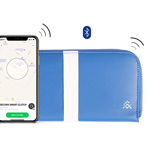 Secura Anti-theft Bluetooth Trackable Smart Clutch Wallet | Smart Christmas Gift for Women