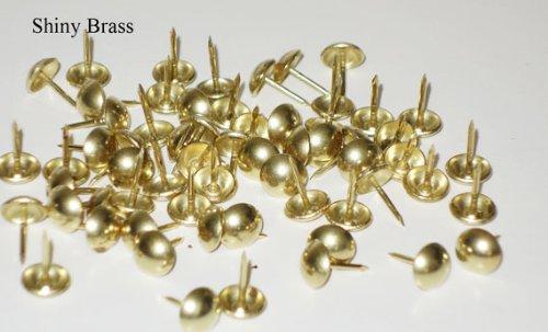 "*3/8"" Brass Tacks - High Dome 100/pk"