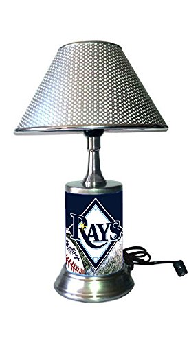 (JS Rays Table Lamp with Chrome Shade, Your Favorite Team Plate Rolled in on The lamp Base, TBR, MLB)