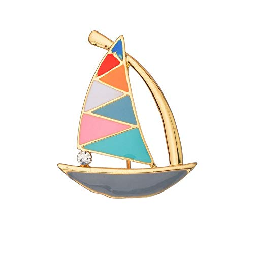 SKZKK Fashion Small Sailboat Enamel Lapel Pin Colourful Broaches and Pins for Women Jewelry Women's Accessories for Women Simple and Elegant Breastpin from SKZKK