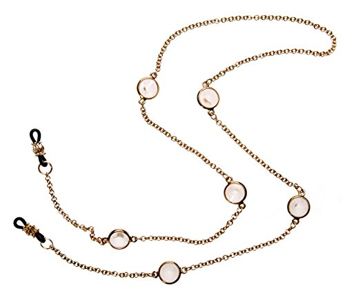 L. Erickson Charmer Eyeglass Chain - Crystal/Gold by L. Erickson