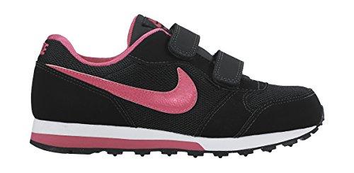 Nike MD Runner 2 (PSV), Zapatillas Para Niñas, Negro (Black/Vivid Pink-White 006), 33.5 EU