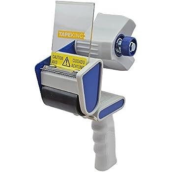 Tape King TX100 Packing Tape Dispenser Gun - Plus 1 Free Roll of Packaging Tape - Best Side Loading 2 Inch Lightweight Ergonomic Industrial Gun for Shipping, Moving, Carton and Box Sealing