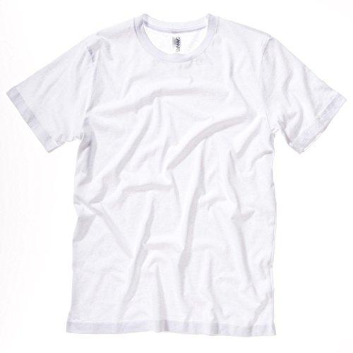 Unisex Bella Canvas Slim Fit Seite gesäumt Jersey Crew Neck T-Shirt weiß Größe XL