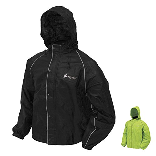 Frogg Toggs FT63133-01MD Road Toad Reflective Jacket, Black Black
