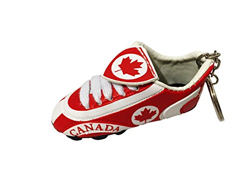 Football Soccer Futbol Mini Shoe KeyChains KeyRings - Americas (Country: Canada)