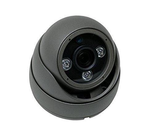 Kenuco 1080P 4 in 1 HD TVI / CVI / AHD / Analog CVBS Infrared Dome Camera : Gray, Fixed 3.6mm Lens (Range Def High Dome)