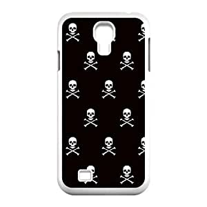 Samsung Galaxy S4 9500 Cell Phone Case White_Skull and Crossbones (white) Jbwud