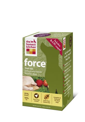 The Honest Kitchen Force Grain-Free Dehydrated Dog Food, 4-Ounce Trial, My Pet Supplies