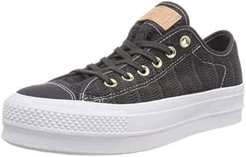 Converse Women s CTAS Lift OX Almost Black Trainers 758021120