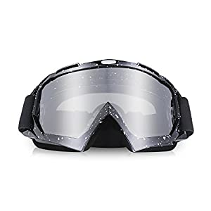 ThyWay Ski Motorcycle Goggles, Anti UV Anti Scratch Dustproof Windproof Safety Unisex Goggles Fit for Snow Skiing, Cycling, Climbing, Riding & Outdoor Sports Eyewear Colorful Lens Glasses (Black 2)