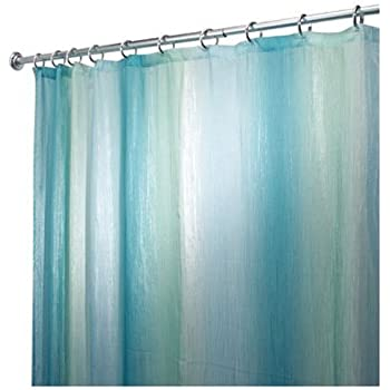 InterDesign Ombre Print Shower Curtain Blue Green