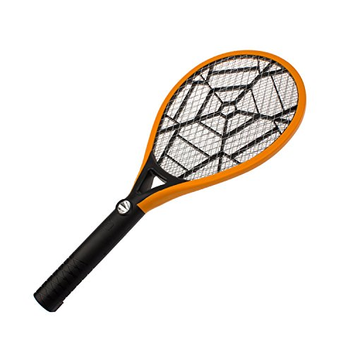 HOMEE Bug Zapper-Electric Fly Swatter, Rechargeable Mosquito, Fly Killer, Racket 2300 Volts Super Bright LED Light to Zap in The Dark, Built- in US Plug & 3-Layer Mesh Safe to Touch-Yellow by HOMEE