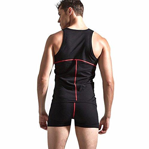 01a11e12eb iEFiEL Men Sleeveless One-Piece Bodysuit Jumpsuit Boxers Leotard Sports  Singlet Lounging Underwear