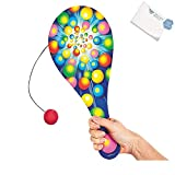 Bargain World Wooden Jumbo Everyday Paddleball Game (With Sticky Notes)