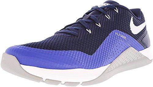 Nike Mens Metcon Repper Dsx Utbildning Sko Ren Platina / Vit / Volt / Svart Binär Blå / Avgörande Blå / Wolf Grå / Vit