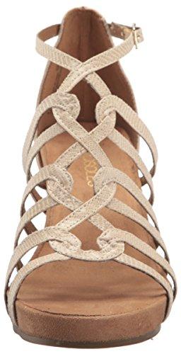 Aerosoles Mujeres Great Plush Wedge Sandalia Bone Snake