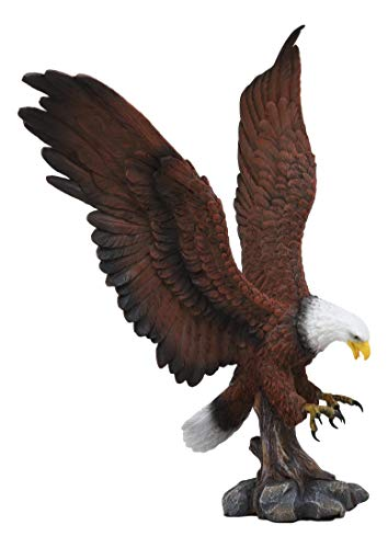 Ebros Large Rocky Mountain Grand Bald Eagle Descending on Prey Statue Patriotic American Home Decor Figurine Or as Religious Inspiration Decorative Sculpture of Eagles Wildlife Birds 4th of July ()