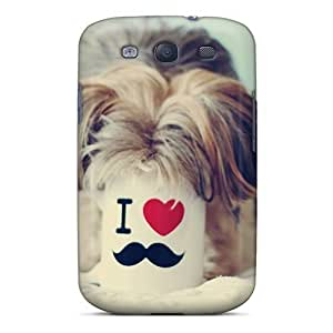 Galaxy S3 Hard Back With Bumper Silicone Gel Tpu Case Cover Funny Dog Image