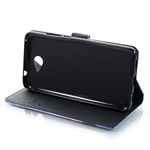 Funda Huawei Y7, Alfort Carcasa Huawei Y7 Prime Cover Case Pintada de la cubierta del Cuero Moda Cascara con Soporte Plegable y Ranura de Tarjeta ( Campanula de blanco ) Campanula de Negro