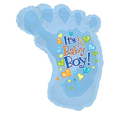 CTI Foil Balloon 434205 BABY BOY FOOTSIE SHAPE 24 Multicolored