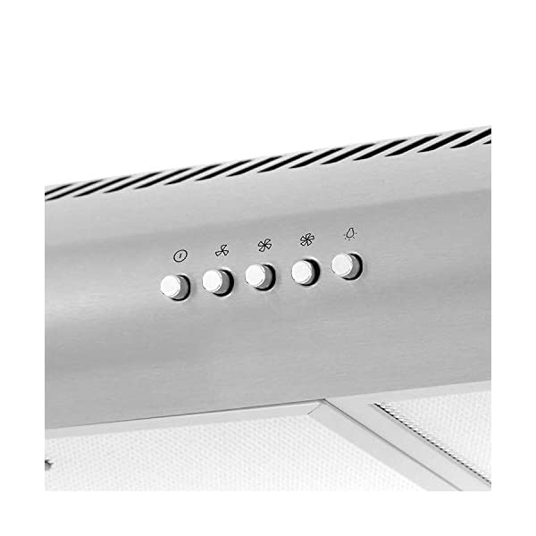 Cosmo 5MU30 30 in. Under Cabinet Range Hood with Ducted / Ductless Convertible Duct, Slim Kitchen Stove Vent with, 3… 3