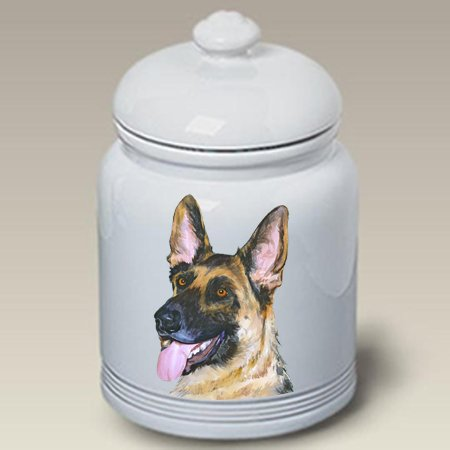 German Shepherd - Barbara Van Vliet Ceramic Treat Jars (Treat Jar Shepherd)