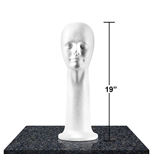 Styrofoam Mannequins Display Womens Hairpieces product image