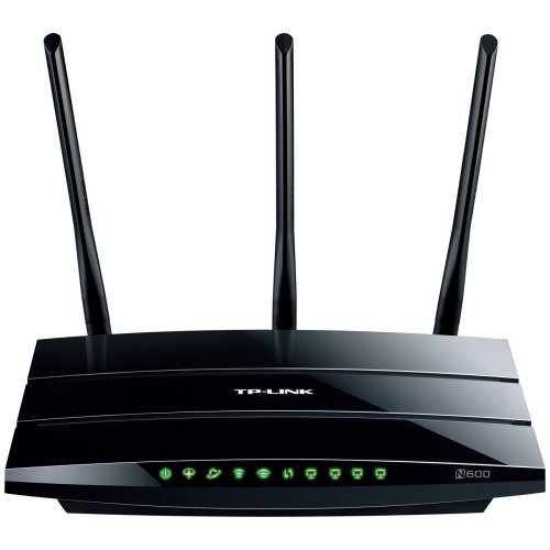 """Tp. Link Td. W8980 N600 Wireless Dual Band Gigabit Adsl2+ Modem Router, 2.4Ghz 300Mbps+5Ghz 300Mbps, 2 Usb Ports For File Sharing, Ipv6 Compatible . 2.40 Ghz Ism Band . 5 Ghz Unii Band . 5 X Antenna . 600 Mbps Wireless Speed . 4 X Network Port . Usb . Gigabit Ethernet . Yes Desktop """"Product Type: Wireless Devices/Wireless Routers"""""""