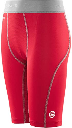 (Skins Carbonyte Junior Baselayer Half Tights - AW16 - Small - Red)