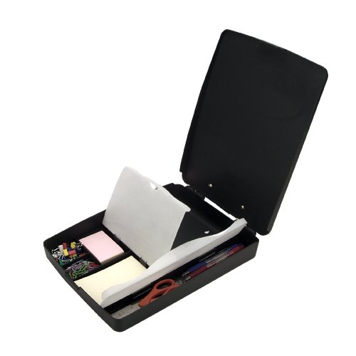 Officemate Extra Storage and Supply Clipboard, Charcoal (83333) (Pink Clipboard Storage Box)