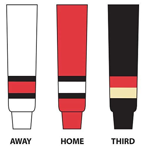 DoGree Hockey Ottawa Senators Knit Hockey Socks, 20-Inch, Red/White/Black ()