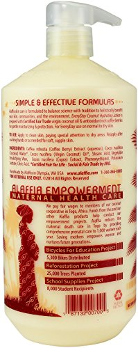 Alaffia - EveryDay Coconut - Hydrating Body Lotion, Purely Coconut -32 oz 6 100% FAIR TRADE: Feel good about how you are getting your products with 100% Certified Fair Trade Ingredients. LIGHTWEIGHT HYDRATION: Our Certified Fair Trade virgin coconut oil absorbs quickly, providing light-weight yet deep hydration for smooth and silky skin. COCONUT WATER MOISTURIZES AND NOURISHES: Made with essential amino acids, vitamins and minerals while the antioxidant-rich coffee berry extract helps to protect the skin from free radical damage.