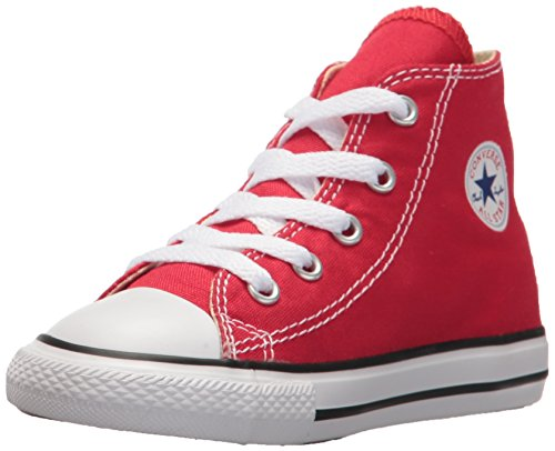 Converse Kid's Chuck Taylor All Star High Top Shoe, red, 5 M US Toddler (Chucks Converse Red)