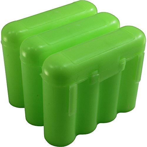 3 AA/AAA / CR123A Green Battery Holder Storage Cases