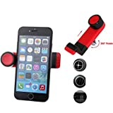 Car Mount AC Air Vent Holder Rotating Cradle Dock Airvent Stand Red for Net10 LG Optimus Fuel - Net10 LG Optimus Logic - Net10 LG Optimus Net - Net10 LG Optimus Q - Net10 LG Optimus Showtime