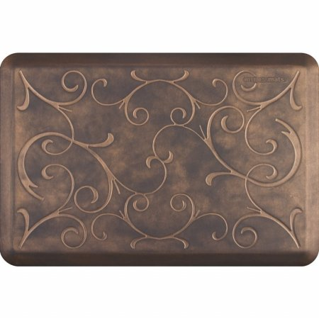 WellnessMats Estates Collection Essential Series Antique Gold Bella 3 x 2 Foot Anti-Fatigue Mat by WellnessMats