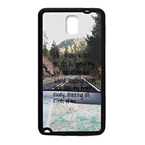Happy Road Trip Travel Quote Cell Phone Case for Samsung Galaxy Note3