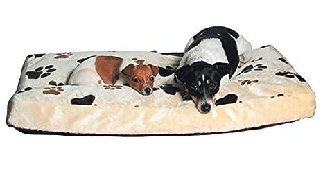 Trixie 37591 Gino Perro cojín 60 x 40 cm Beige/marrón Oscuro
