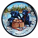 AcuRite 01678 12.5-Inch Wall Thermometer, Black Lab Pups