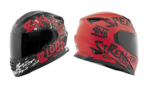 Speed and Strength SS1310 Bikes Are In My Blood Helmet - Large/Matte Black/Grey