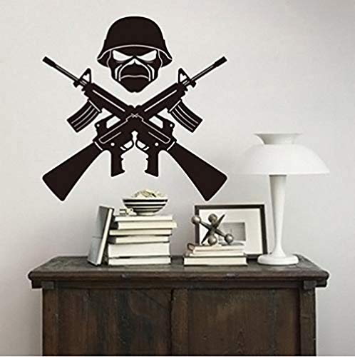 gykjf Home Decor Ak-47 Weapons Soldier Wall Decal Detachable Vinyl Living Room Decoration Sticker Military Gun Child Boy Room Mural Ay01 42X42Cm (Best Modern Ak 47)