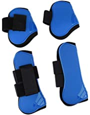 menolana 4 Pack Horse Care Boots Horse Exercise Jumping Boots Horse Fly Boots Tendon and Fetlock Leg Support Boots for Training Riding Eventing