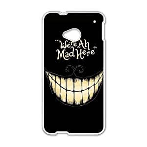 HTC One M7 Cell Phone Case White Mad Here SLI_736293