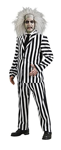[888736 (Standard Large) Beetlejuice Costume Adult] (Beetle Juice Wig)