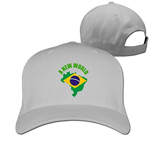 Unisex Rio 2016 A New World Brazil Adjustable Snapback Baseball Caps Ash One Size -