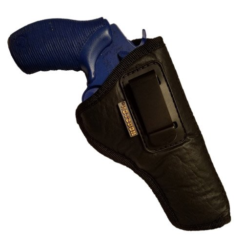 ECO LEATHER Concealment Revolver Holster Inside The Waist With Metal Clip (right) FITS:Revolvers K,L,M & N FRAMES,5 & 6 SHOTS,3.5