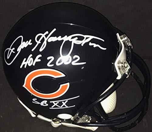Dan Hampton Chicago Bears Signed Mini Helmet 2 Inscriptions HOF 2002, SBXX -